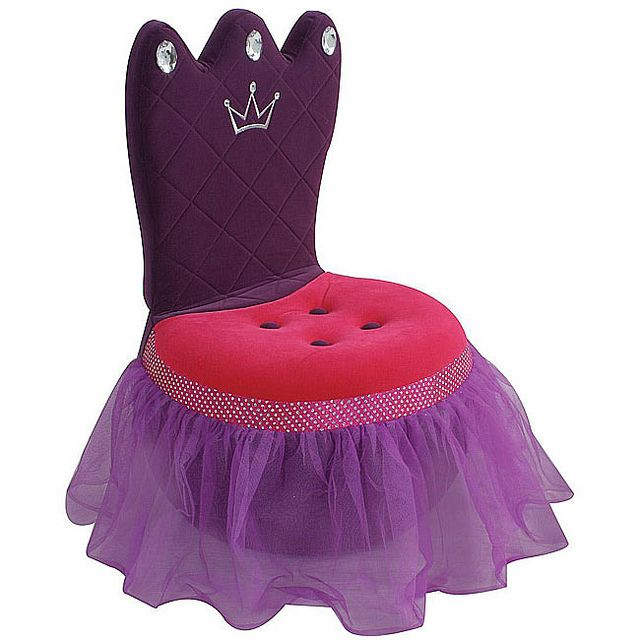Kidsocial - Princess Plush Kids' Crown Chair by New Inspiration Home Design