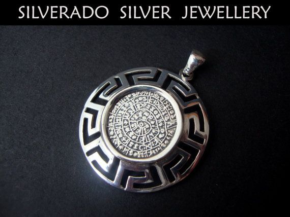 Ancient Greek Minoan Phaistos Disc Greek by SilveradoJewellery, €49.00