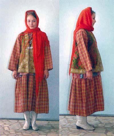 Зимний народный костюм поволжья