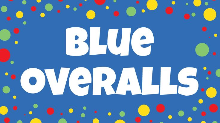 Blue overalls colour song for kids. Sing and read along to achieve multi-sensory learning. See it, hear it, do it!Free song ideas and activities: http://www....