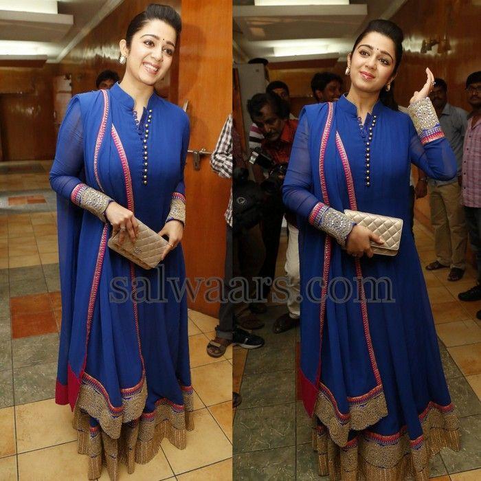 Charmi Kaur Blue Churidar - Indian Dresses