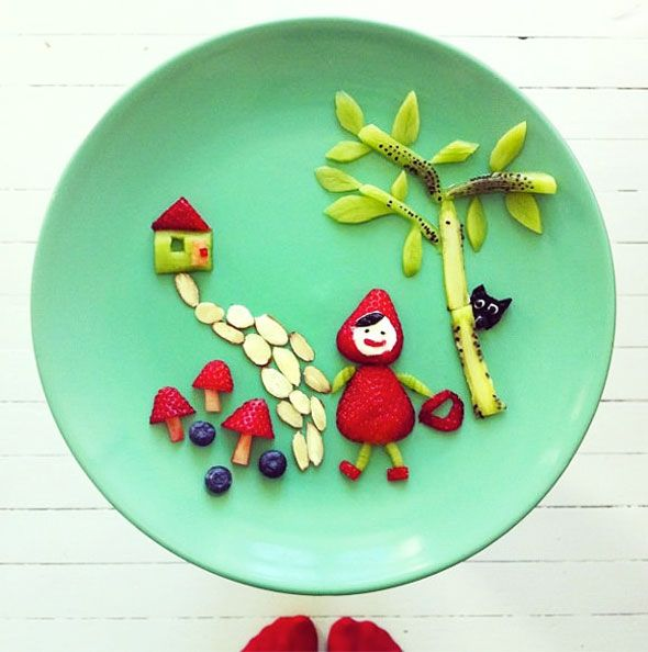 Little Red Strawberry Riding in the Hood by Idafrosk l #kids
