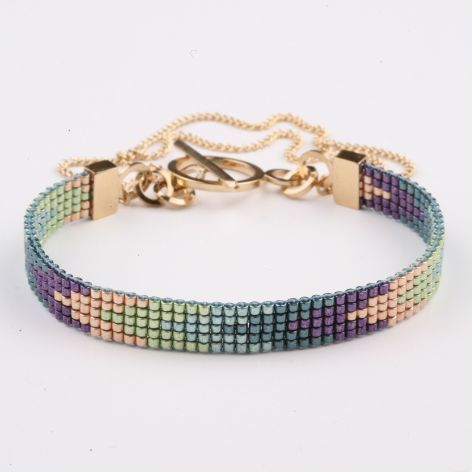 This bracelet not on this link - Image for inspiration only ~ `pulsera miyuki delica con telar