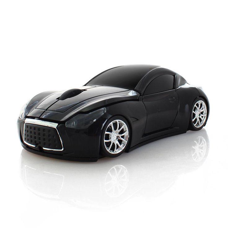2.4G Wireless Car Shape LED USB Optical Mouse Mice For Laptop PC Computer #UnbrandedGeneric