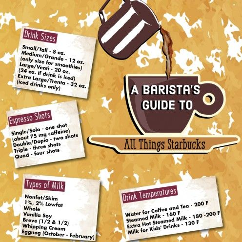 Infographic: Terms to use when ordering at Starbucks.