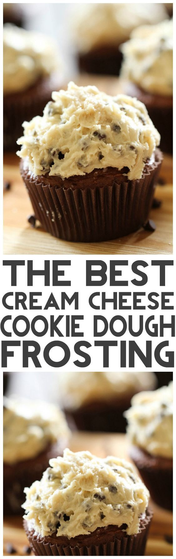 THE BEST Cream Cheese Cookie Dough Frosting from chef-in-training.com ...This frosting is incredible! Seriously, you need to make it to see for yourself!