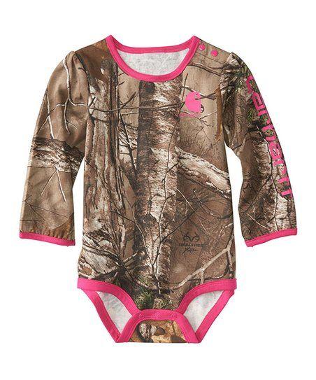 Carhartt Pink Camo Bodysuit - Infant  099937d5d