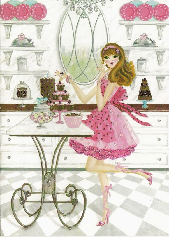 A happy girl and her cupcakes!! Is this you? It's definitely me!! Aline :)