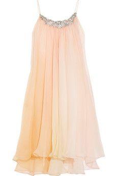 Jenny Packham  Hand-painted silk-chiffon chemise: Pretty Dresses, Style, Hand Painted Silk Chiffon, Packham Hand Painted, Clothes, Dream Closet, Silk Chiffon Chemise, Jenny Packham