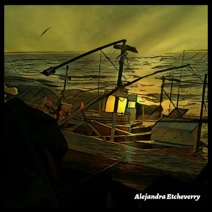 Título: Farol del bote - Arte Digital - San Luis, Argentina - Autora: Alejandra Etcheverry