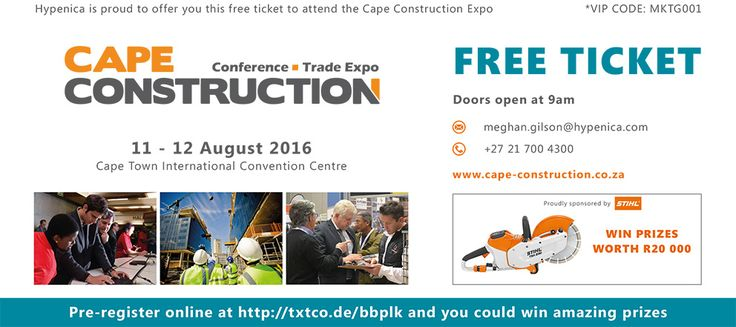Come and visit us at stand 509. Click on the link for your free ticket.