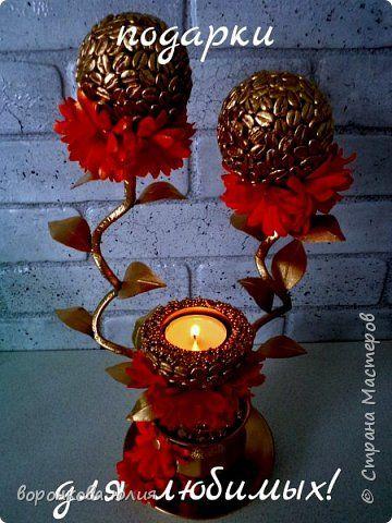Декор предметов 8 марта подсвечники   очень много все такие разные   Кофе Фоамиран фом фото 1