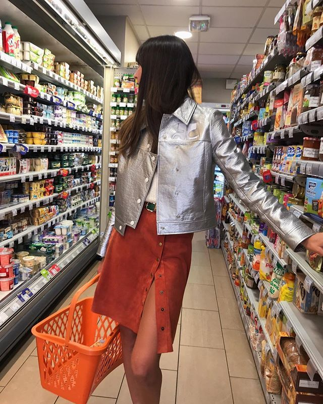 Over casual at the supermarket