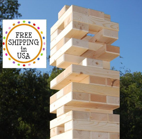 54 2x4 Giant Jenga Tumbling Wood Block Game   by twosorethumbs