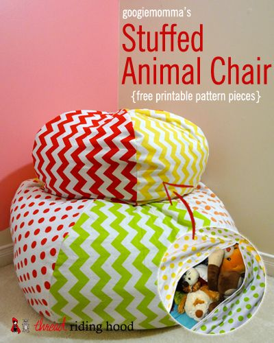 Thread Riding Hood & googiemomma Stuffed Animal Chair Pattern