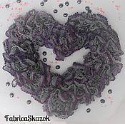 Аксессуары ручной работы. Ярмарка Мастеров - ручная работа Серый шарф-боа воздушный с рюшами. Handmade.