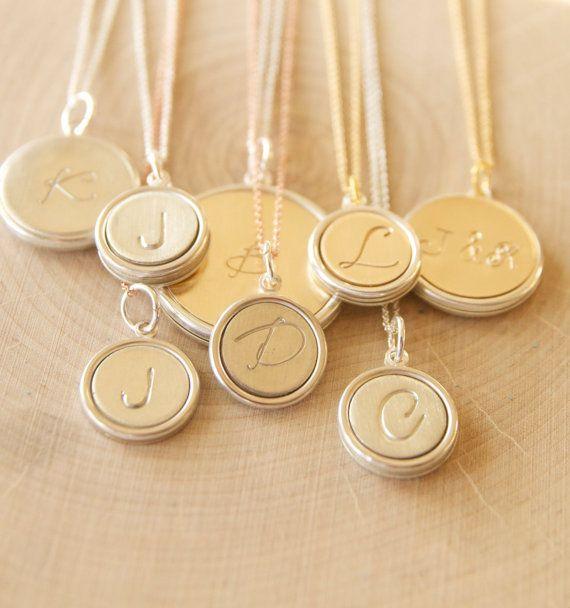 Beautiful monogram necklaces