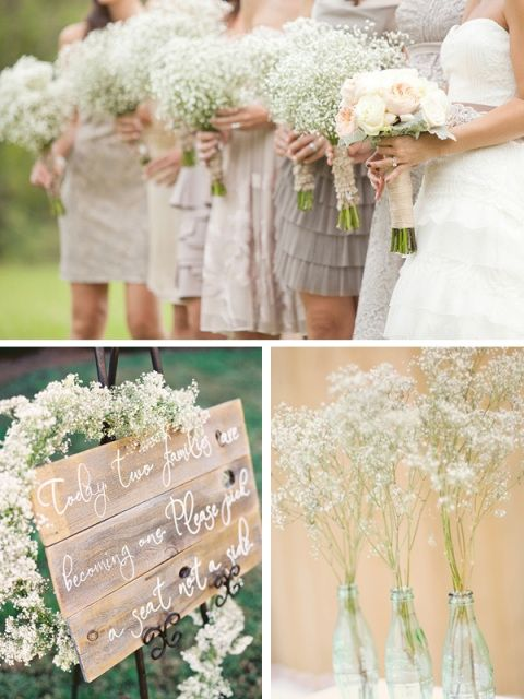 babys breath wedding | Wedding Flower Feature: Baby's Breath