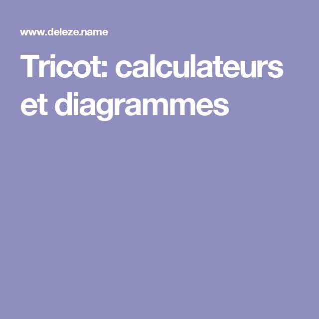 Tricot: calculateurs et diagrammes