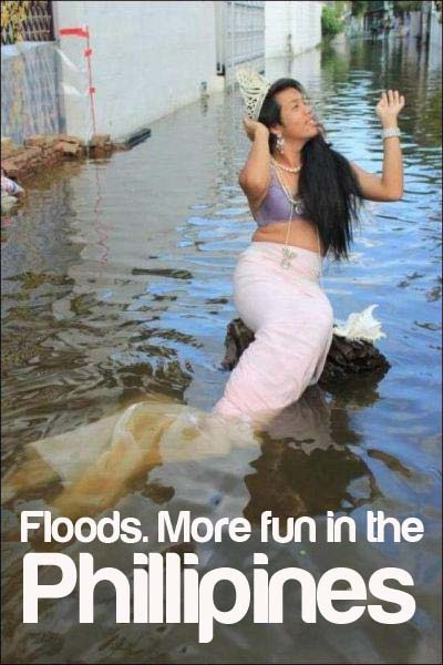#Philippines #Pinoy  Well I know now what I'm doing if my areas flooded(: