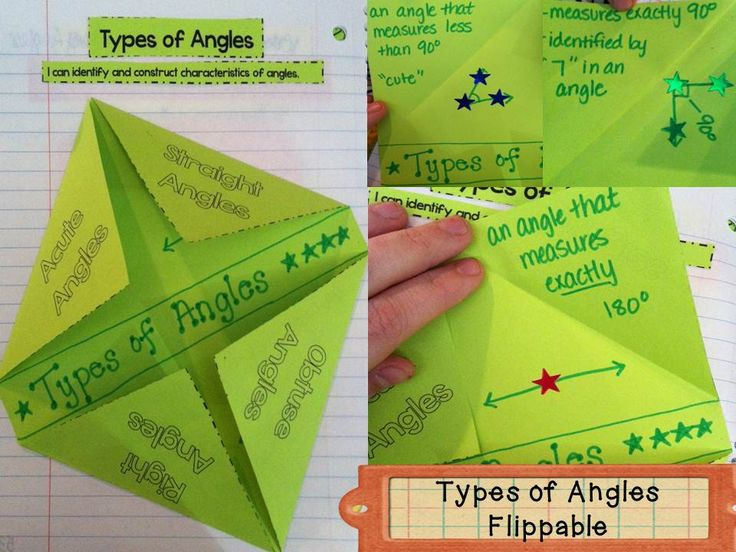 Interactive Types of Angles Flippable