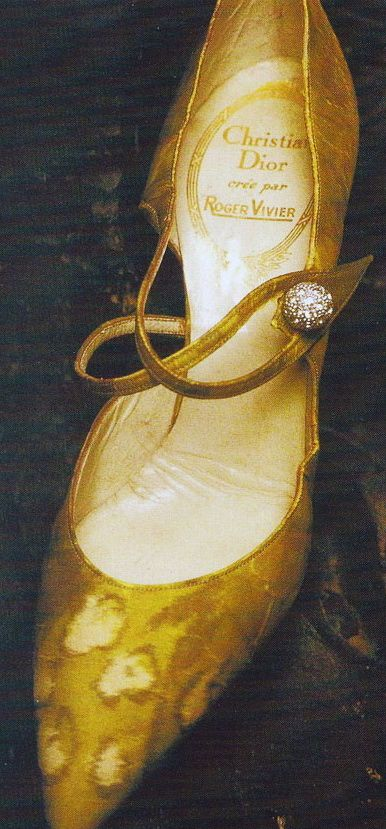 Exquisite cheetah print silk evening pumps (1950s) by French designer Roger Vivier (1913-1998) for French couturier Christian Dior (1905-1957).