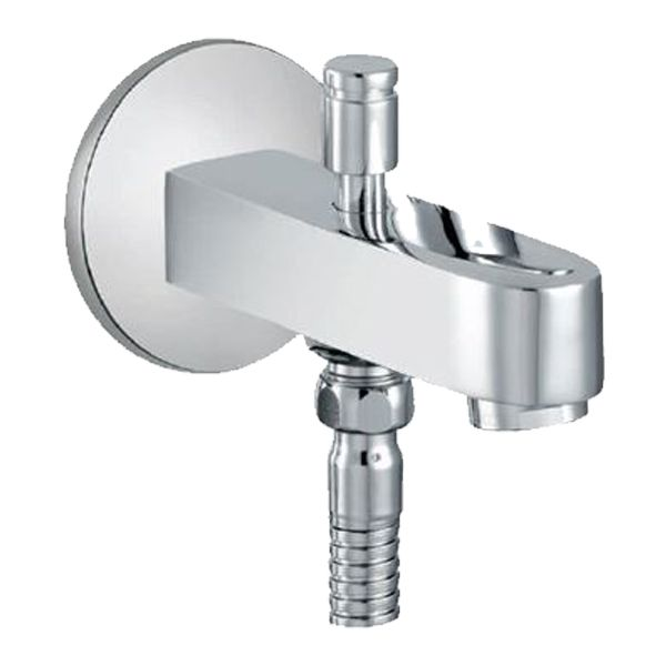Buy Jaquar Fusion SPJ-29463 Bath Tub Spout with Button Attachment for Hand Shower with Wall Flange in Taps through online at NirmanKart.com