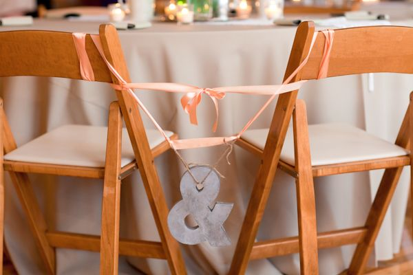 tied to the chairs- bride and groom  Handmade Amber Springs Wedding: Sweetheart Table, Handmade Amber, Bride Grooms, Grooms Chairs, Spring Wedding, Handmade Wedding, Cute Ideas, Chairs Decor, Amber Spring