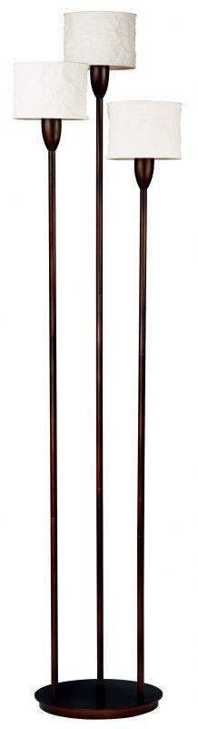Kenroy Home 30673 Crush 3 Light Torchiere Floor Lamp Oil Rubbed Bronze Lamps Floor Lamps