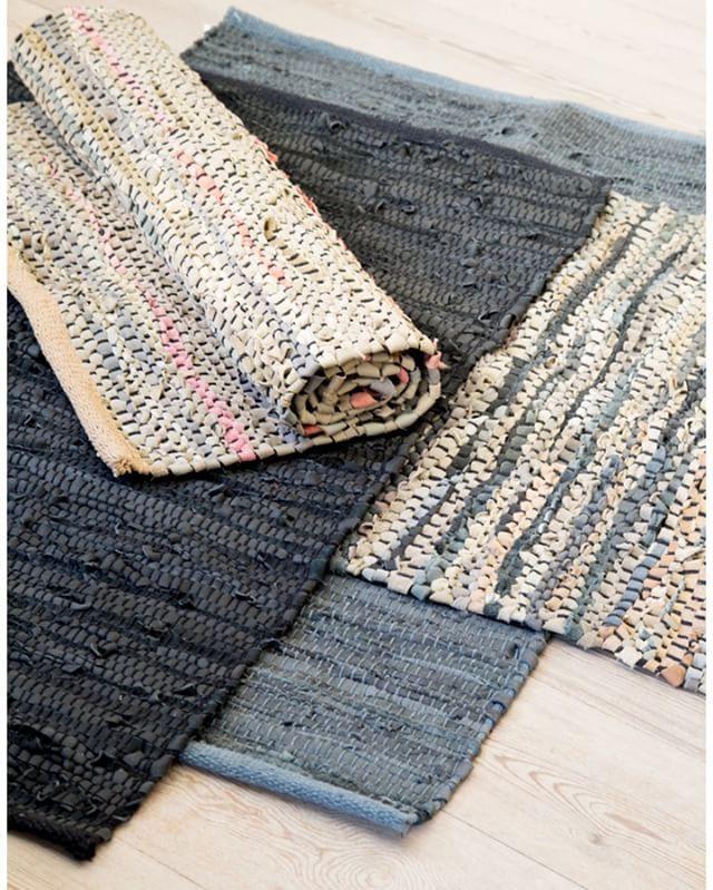 In stores now. Leather rug. 60x90 cm. Price DKK 49,90 / SEK 67,90 / NOK 66,90 / EUR 6,98 / ISK 1426 #leather #rug #ragrug #kludetæppe #tæppe #gulvtæppe #interior #interiør #sostrenegrene #søstrenegrene