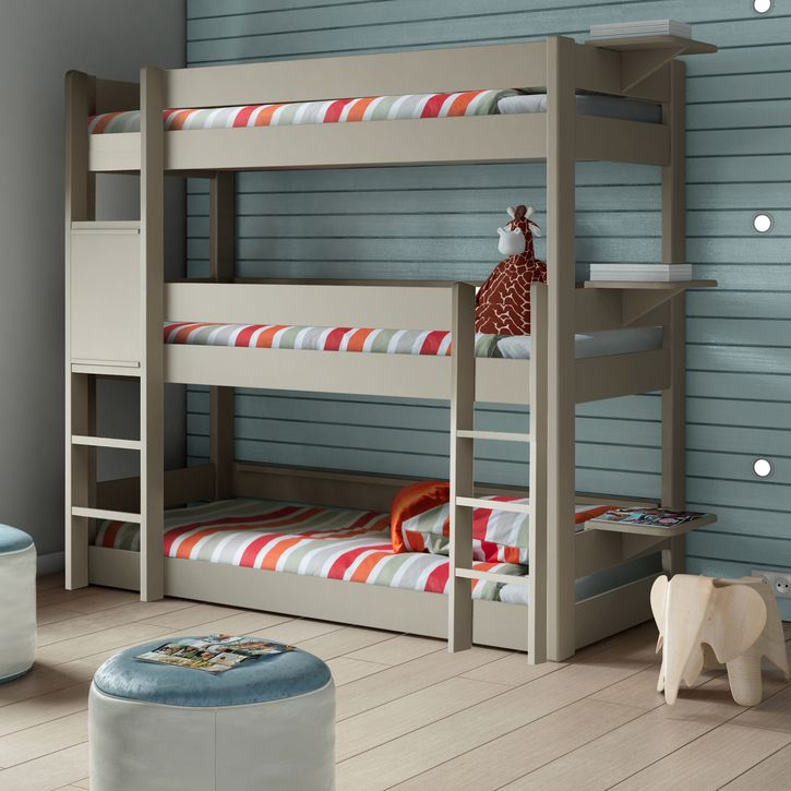 Triple Bunk Bed - Mathy By Bols Various Colours | Nubie