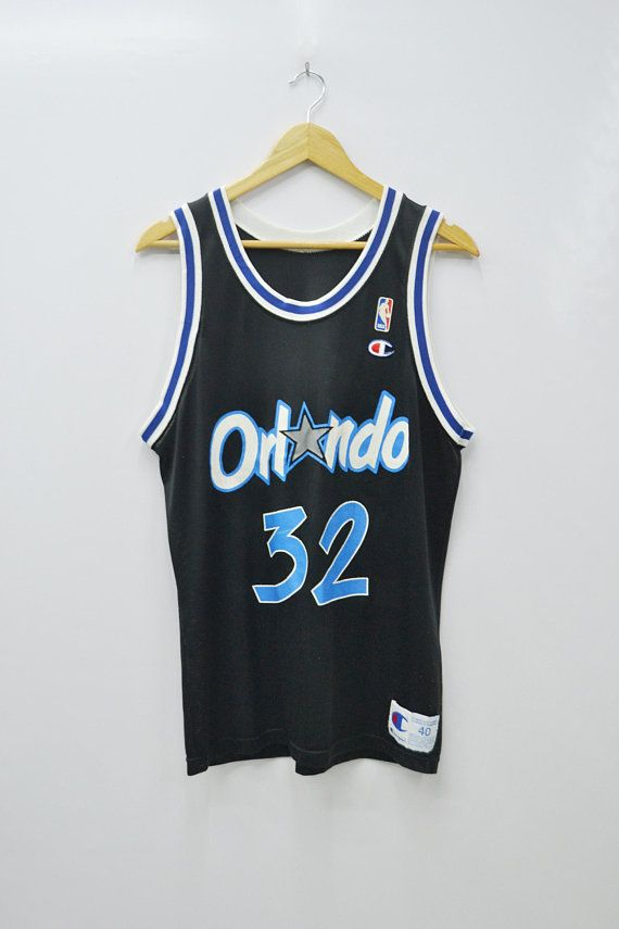 Orlando Magic O Neal Jersey Vintage Champion Orlando Magic Jersey Made In  USA Champion Vintage Shaquille O Neal  32 Size 40 8d89bd9a7