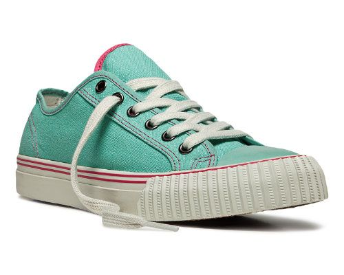 A minty fresh blue-green is a keen summer color for these retro faves. Women's PF Flyers Center Lo Sneaker