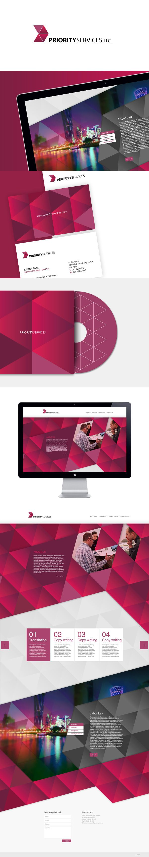 PRIORITY SERVICES on Behance