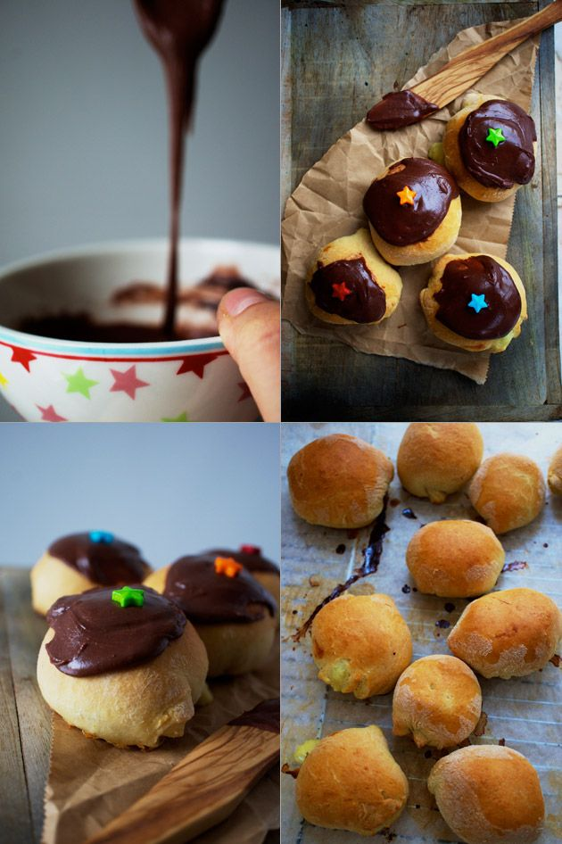 Fastelavnsboller, recipe in Danish from The Food Club