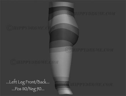 #HippyDrome.com Thigh Front Back