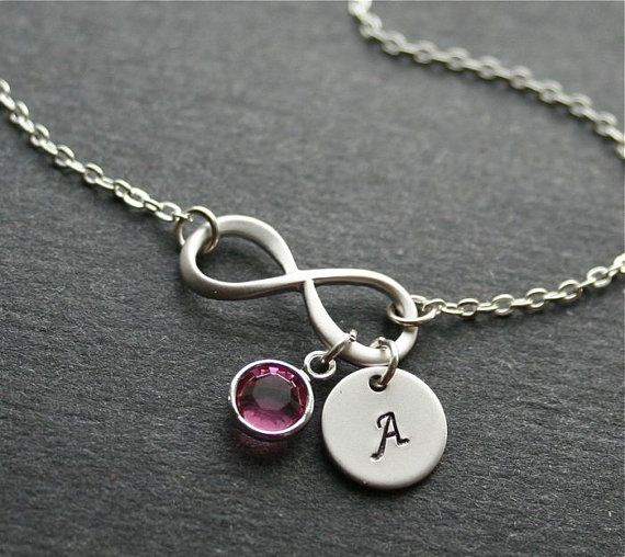 Silver Infinity Necklace Infinity Symbol Necklace by smilesophie