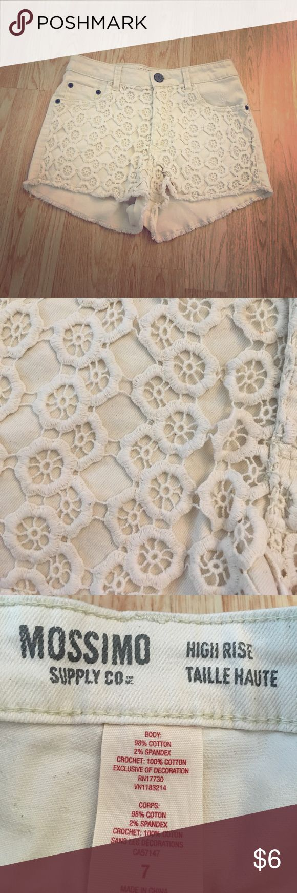 🎀JUST ADDED🎀 HIGH RISE CREAM LACE SHORTS Good condition Mossimo Supply Co Shorts