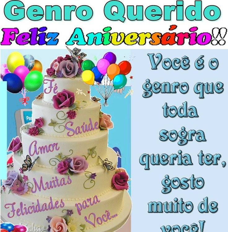 Genro Querido Feliz Aniversário #felicidades #feliz_aniversario #parabens