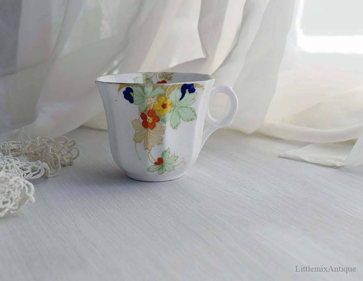 Vintage Melba China Co Ltd Bone China Guaranteed Made in England Hand Decorated Single Small Coffee Cup Retro English Teatime Chinaware by LittlemixAntique on Etsy