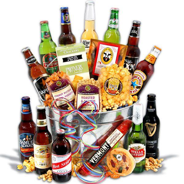 14 best beer gift baskets images on Pinterest | Beer gift baskets ...