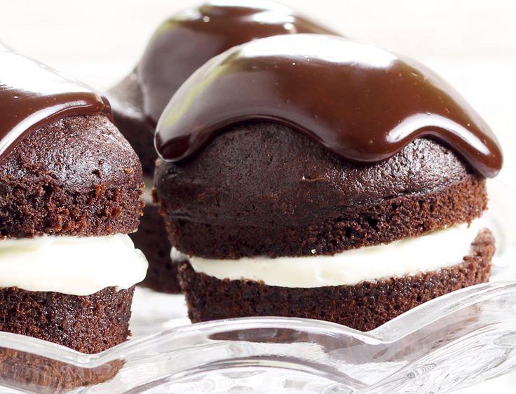 Çikolata Ganajlı ve Kremalı Mini Kek