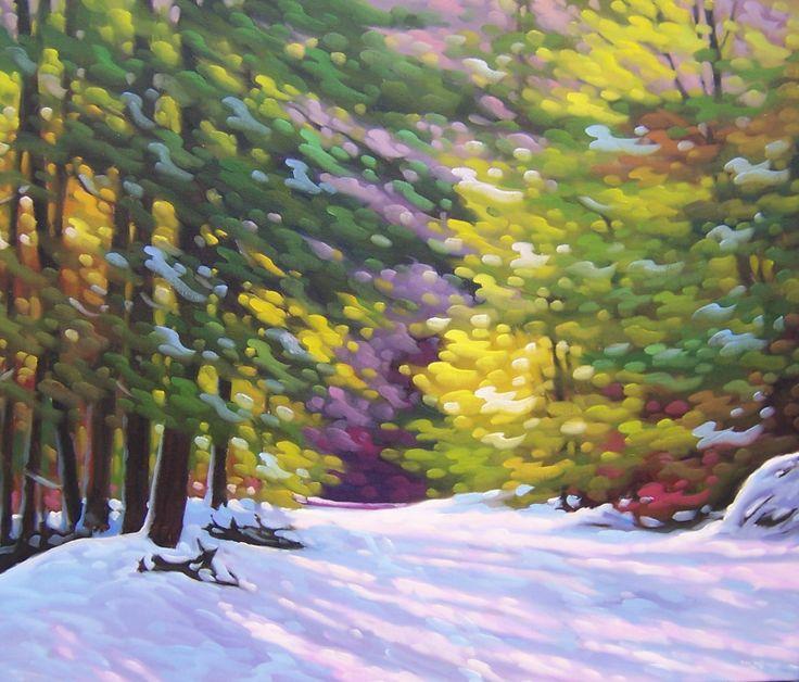 First Winter Snow 30X36 - Michel Le Roux