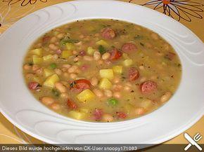 Weiße Bohnen-Suppe