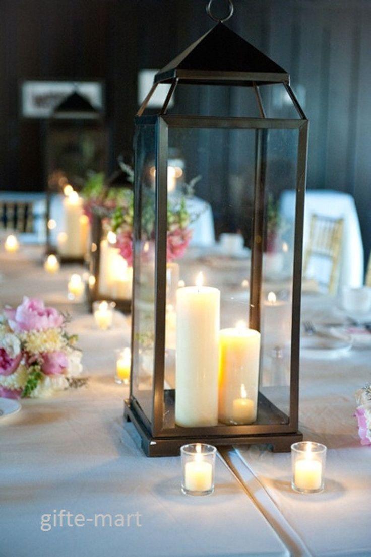 Large Candle Centerpiece Ideas : Wedding ideas extra large candle lanterns for