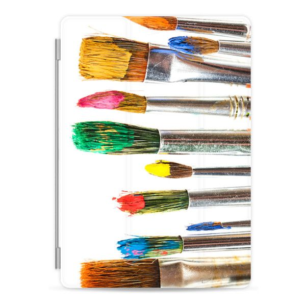 Artist Paint Brush iPad - iPad Cover / Case (195 RON) ❤ liked on Polyvore featuring accessories, tech accessories, art, backgrounds, ipad cover / case, apple ipad case, ipad cases, ipad cover case, apple ipad cover case and ipad sleeve case