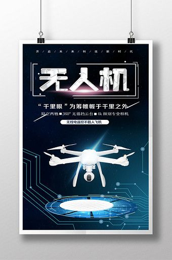 Drone technology poster design#pikbest#templates