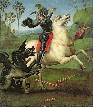 San Giorgio e il drago,1504. Museo del Louvre,Paris.