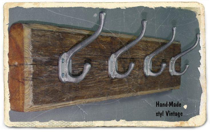 Stylowy duży wieszak Handmade - Manufaktura vintage