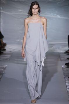 Top tunica e pantalone palazzo Maison Martin Margiela - Vestito da invitata a una cerimonia grigio chiaro